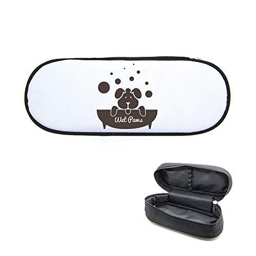 Federmäppchen, bedruckt, Badewanne Hund