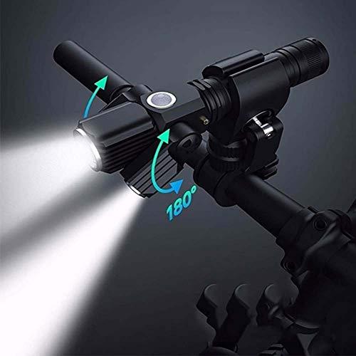 NEXMON 自転車用ヘッドライト 自転車ライトセット 防水 自転車 ライト USB充電 テールライト付き 4ライトモード 懐中電灯 LED補助ライト付き フラッシュライト 360度回転 自転車ライト500ルーメン 停電対応 防災用