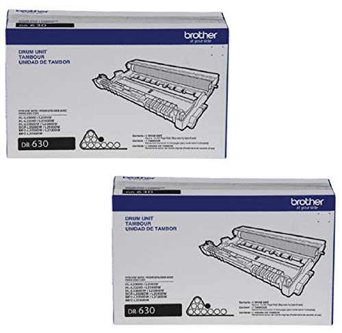 Brother DR630 Drum Unit - Black - 2 Packs In Retail Packing