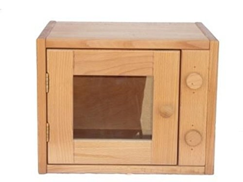 Kinder-Backofen 2029N Holz-Microwelle für Kinderküche Massivholz-Kinderküche