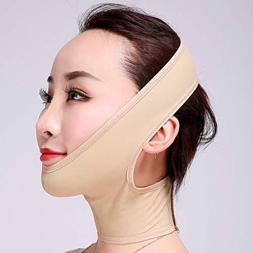 FCXBQ Gesichtsmaske Abnehmen, Slimming Mask Face Lift Bandage Face-Lift-Verband Facelifting Artefakt Face Lift Cheek Slim Gesichts Abnehmen Bandage,skincolor,L