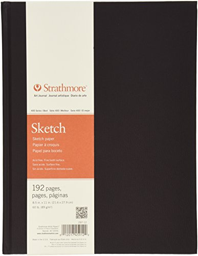 "Strathmore 297-12-1 Hardbound Sketch Art Journal, 8.5"" x 11"", 192 Pages"