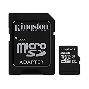 Kingston Digital Select 32GB microSDHC Class 10 UHS-I 80MB/s R 10MB/s W Flash Memory Card with Adapter