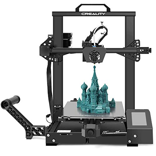 Creality 3D Printer CR-6 SE Leveling-Free, Silent Motherboard, Meanwell Power Supply, Tempered Glass Plate and Dual Z-axis 235 x 235 x 250 mm for Hobbyists Designers and Home Users