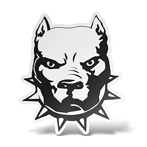 erreinge Sticker Pitbull Pit Bull Dog Shaped Adhésif PVC pour Autocollant Peint Auto Moto Casque Camper pour Ordinateur Portable - 30 cm