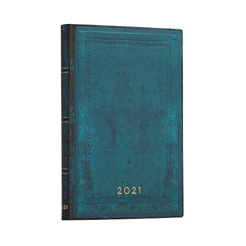 Paperblanks 12 Monate Softcover Flexis-Kalender 2021 Calypso Schlicht | Horizontal | Midi (125 × 175 mm), FD6770-2