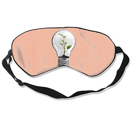 Preisvergleich Produktbild AOOEDM 100% Seidenschlaf-Augenmaske,  kreative Glühbirnen-Nachtschlafmaske,  Meditation mit verstellbaren Trägern,  Lichtblöcke,  geeignet zum Schlafen auf Reisen