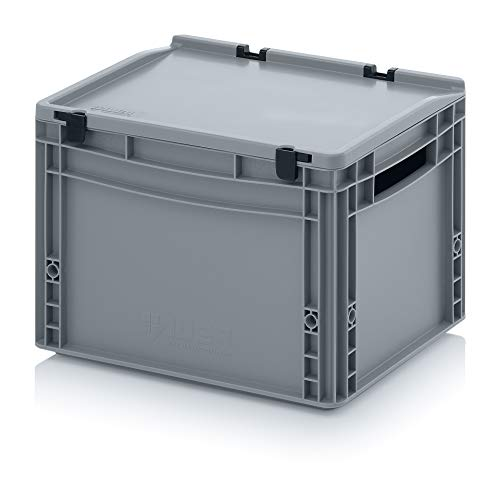 Faltbox Klappbox aus Kunststoff 80x60x44,5 cm mit Deckel