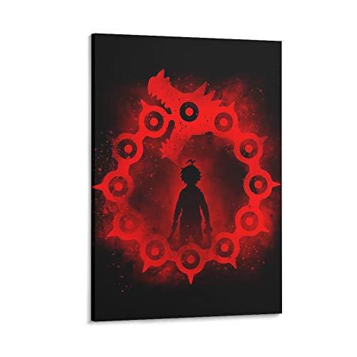 xiangshui Póster decorativo del pecado de la ira del dragón de la pintura de la pared del arte de la sala de estar carteles del dormitorio pintura de 50 x 75 cm