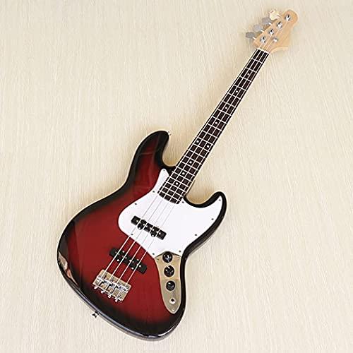 QIXIAOCYB Hoher Glanz 4 String Bassgitarre Rotwein Farbe Elektrische Bassgitarre Gute Kunsthandwerk, Hochglanz Ukulele