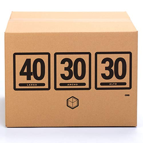TeleCajas (10x) Lote 10 Cajas Cartón Reforzado (40x30x30 cms)   Con asas. Una Onda. 100% Reciclables