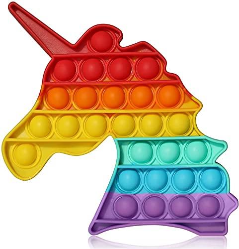 Push Pop Bubble Fidget Spielzeug für Zuhause, Büro, Schule, Anti Stress Spielzeug gut für Kinder Erwachsene (C)