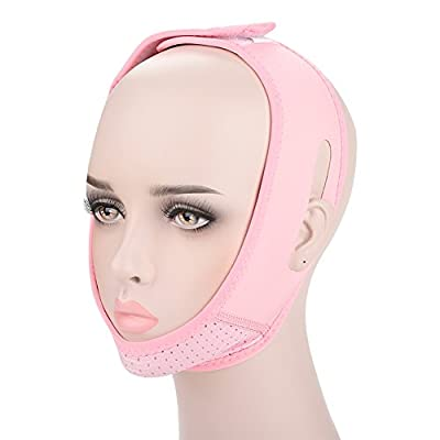 Face Slimming Bandage Mask, Breathable V-line Facial Belt for Reduce Double Chin Lifting Firming Face, Anti Wrinkle Face Contour Belt