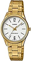 Casio Stainless Steel Gold Dress Watch For Women - LTP-V005G-7BUDF