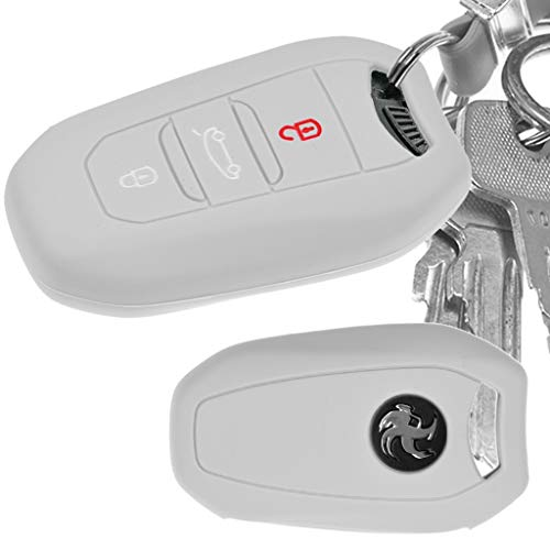 Auto Schlüssel Hülle Silikon Schutz Cover Grau Citroen C4 DS4 DS6 DS5 DS7 Peugeot 208 508 2008 4008