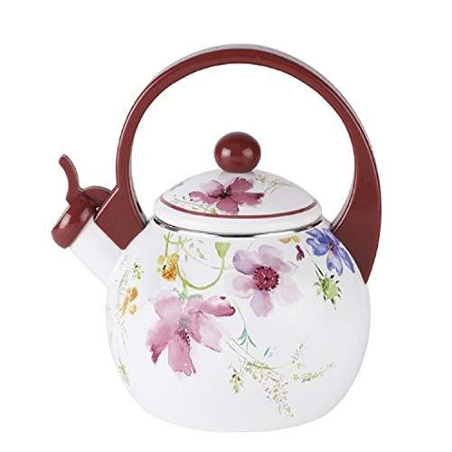 Villeroy & Boch - Marie Fleur Kitchen Teekessel, großer dekorativer Wasserkessel für die Teestunde, metall, bunt/rot, 2 Liter
