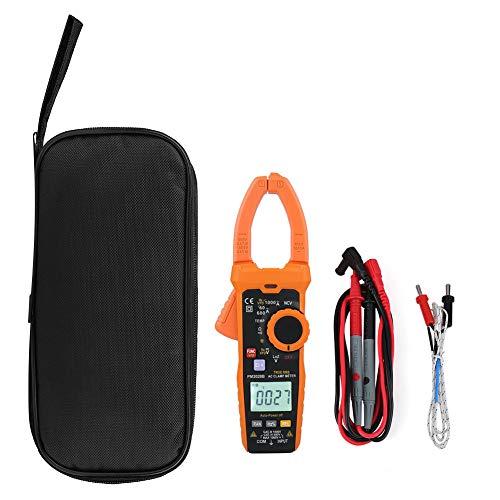 Fydun Pinza amperimétrica PEAKMETER PM2028A / B 6000 cuentas Pinza digital multímetro NCV Hz Ohm Capacitancia Medidor de temperatura(PM2028B)