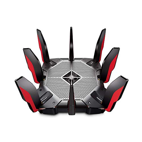 TP-Link - Archer AX11000 Tri-Band Wi-Fi 6 Router - Black/Red (Renewed)