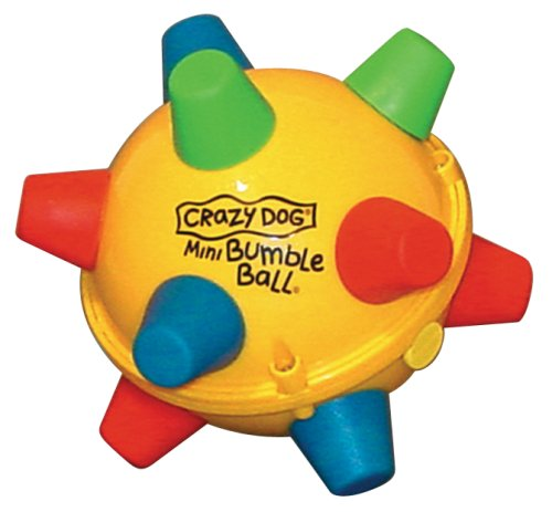 Bumble Ball Motorized Toy - for Small to Medium Sized Dogs - Retro, Interactive Toy - Assorted Colors