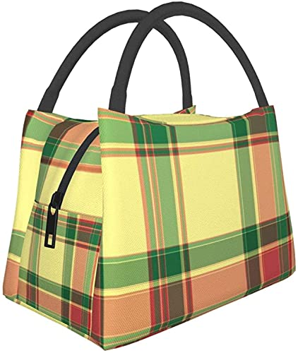 Multifunctionele Rits Pakket Voor School Werken Op Kantoor,Moederdag Rozen Plaid Lunch Bag Lunch, Maaltijd Zak Draagbare Isolatie Zak