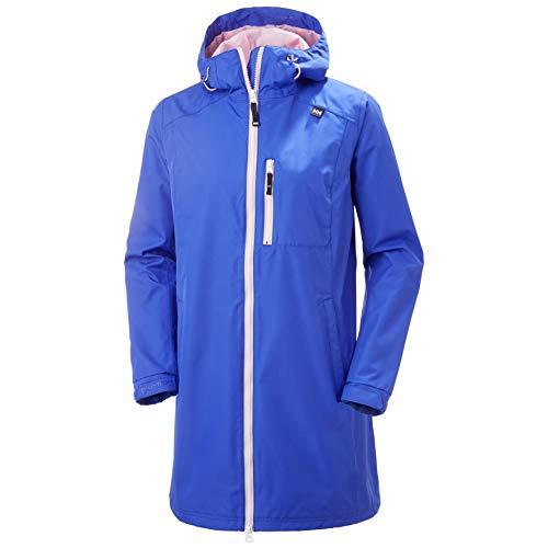 Helly Hansen Damen Long Belfast Jacke, Royal Blue, XL