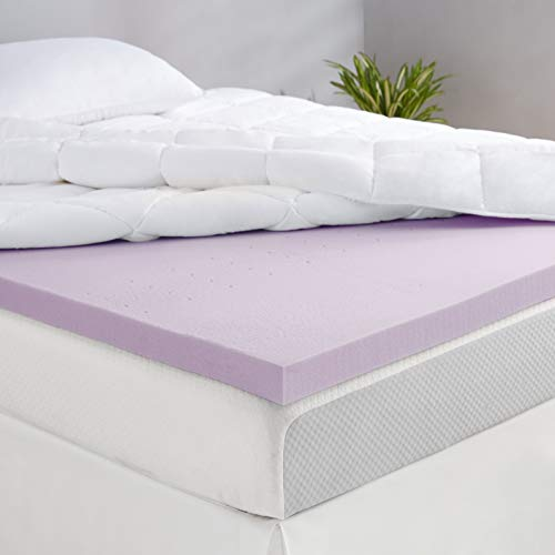 Amazon Basics Lavender Scent-Infused Memory Foam Bed Mattress Topper - Ventilated, CertiPUR-US Certified, 2 Inch, Twin XL