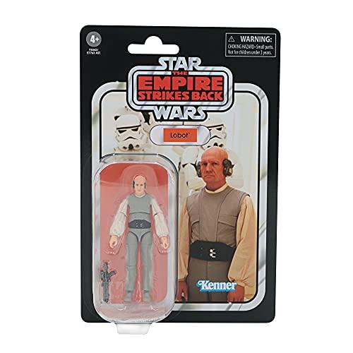 Hasbro Star Wars The Vintage Collection Lobot, 9,5 cm große Star Wars: Das Imperium schlägt zurück Action-Figur, Spielzeug für Kids ab 4 F4462 Mehrfarbig