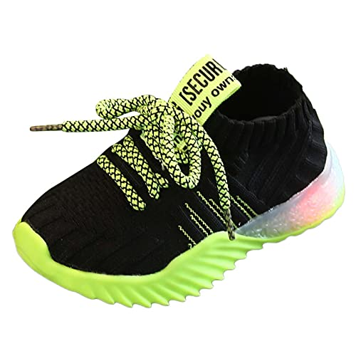 Babyschuhe Kinder Baby Schuhe mit Licht LED Leuchtende Blinkende Sneaker Mädchen Jungen Beleuchtung Sportschuhe Outdoor Turnschuhe mit Weichen Rutschfesten Atmungsaktiv Mesh Leuchtende Turnschuhe