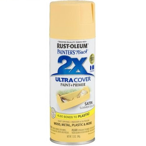 Rust-Oleum 249064 Painter's Touch 2X Ultra Cover, 12-Ounce, Satin Summer Squash