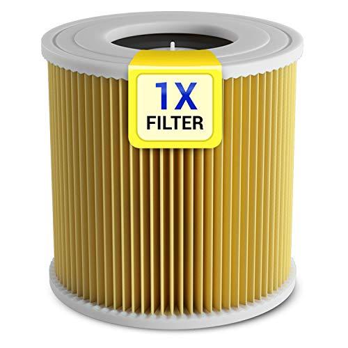 Filtro de cartucho de repuesto para Kärcher 6.414-552.0, cartucho de filtro de cilindro WD3 WD2 MV3 MV2 A2251 A2204 A 2054 A 2604 SE 4001 SE 4002 para aspiradora en húmedo multiusos