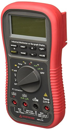 Amprobe AM-270 TRMS Industrial Multimeter with Temperature