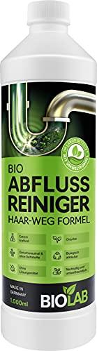 BIOLAB Abflussreiniger Rohrreiniger - Abflussfrei - Rohrfrei für Dusche Spüle - Rohrreinigung in Küche Bad - Abfluss Rohr Reiniger - flüssig chlorfrei geruchsneutral (1000 ml)