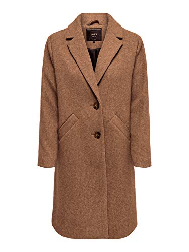 ONLY Damen ONLVERONICA Coat OTW Mantel, Braun (Camel Detail: As Ss), 38 (Herstellergröße: M)
