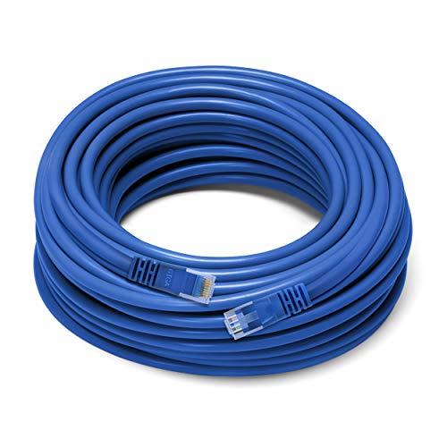 GearIT Vable Cable de Red LAN para computadora, Cat 6para Ethernet, CAT6, 0,3m, Azul, Compatible con interrumptor de 5 Puertos PoE Gigabit, Azul