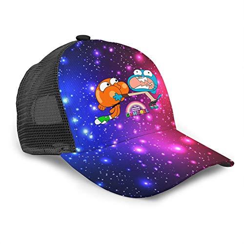 Lo Straordinario Mondo di Gumball Brother Bent Brim Dacron Berretto da Baseball Casual Mesh Hat 3D Print Snapback Berretti a Rete Cappello