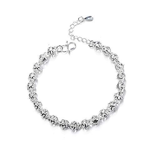 Armband met doorgebroken bolletjes, zilveren armband voor dames.
