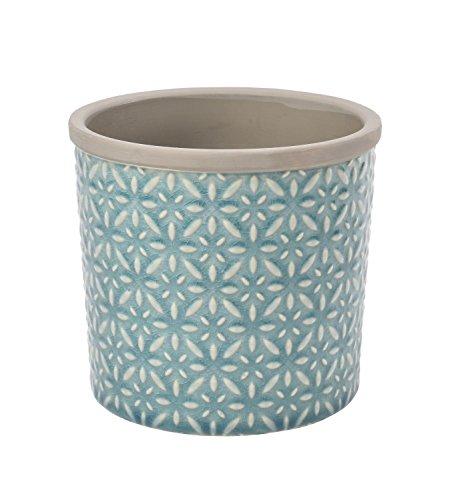 Burgon & Ball Keramik Blumentopf Tuscany D16cm türkis