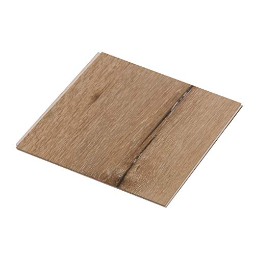 """Cali Bamboo - Cali Vinyl Plus Cork-Backed Vinyl Floor, Extra Wide, Aged Hickory Wood Grain - Sample Size 5-3/4"""" L x 7 1/8"""" W x 7mm H"""