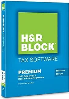 H&R Block Tax Software Premium 2015 Federal & State