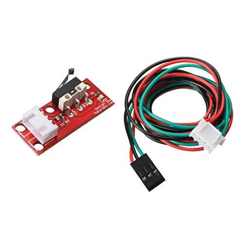 LKK-KK Final de Carrera + Cable Compatible with Impresora 3D Reprap CNC Wire 70 Cm
