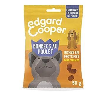 Edgard & Cooper Friandises Recompense Chien Naturelle sans Cereale bonbecs au poulet - pomme myrtille Frais et Savoureux pour Son éducation - 50g
