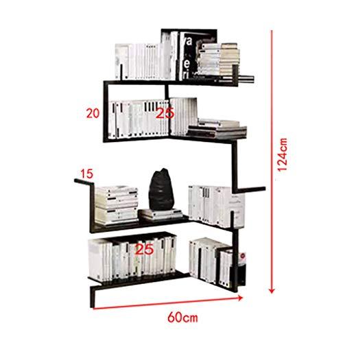 WWZWJ Zwevende plank Smeedijzeren Wandplank, Multi-layer Hoek Boekenplank Voor Slaapkamer/Woonkamer/Keuken/Badkamer Decoratie/Opslag