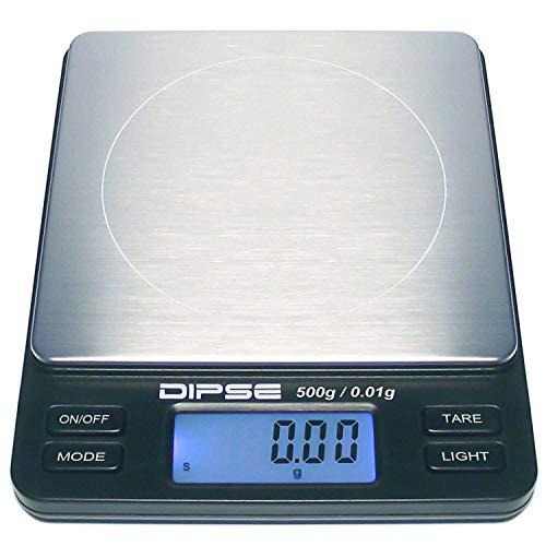 Dipse, bilancia digitale da laboratorio TP 500X 0,01-Bilancia di precisione con 0,01g di sensibilità - Bilancino digitale per un peso massimo di 500 g / 0,5 kg