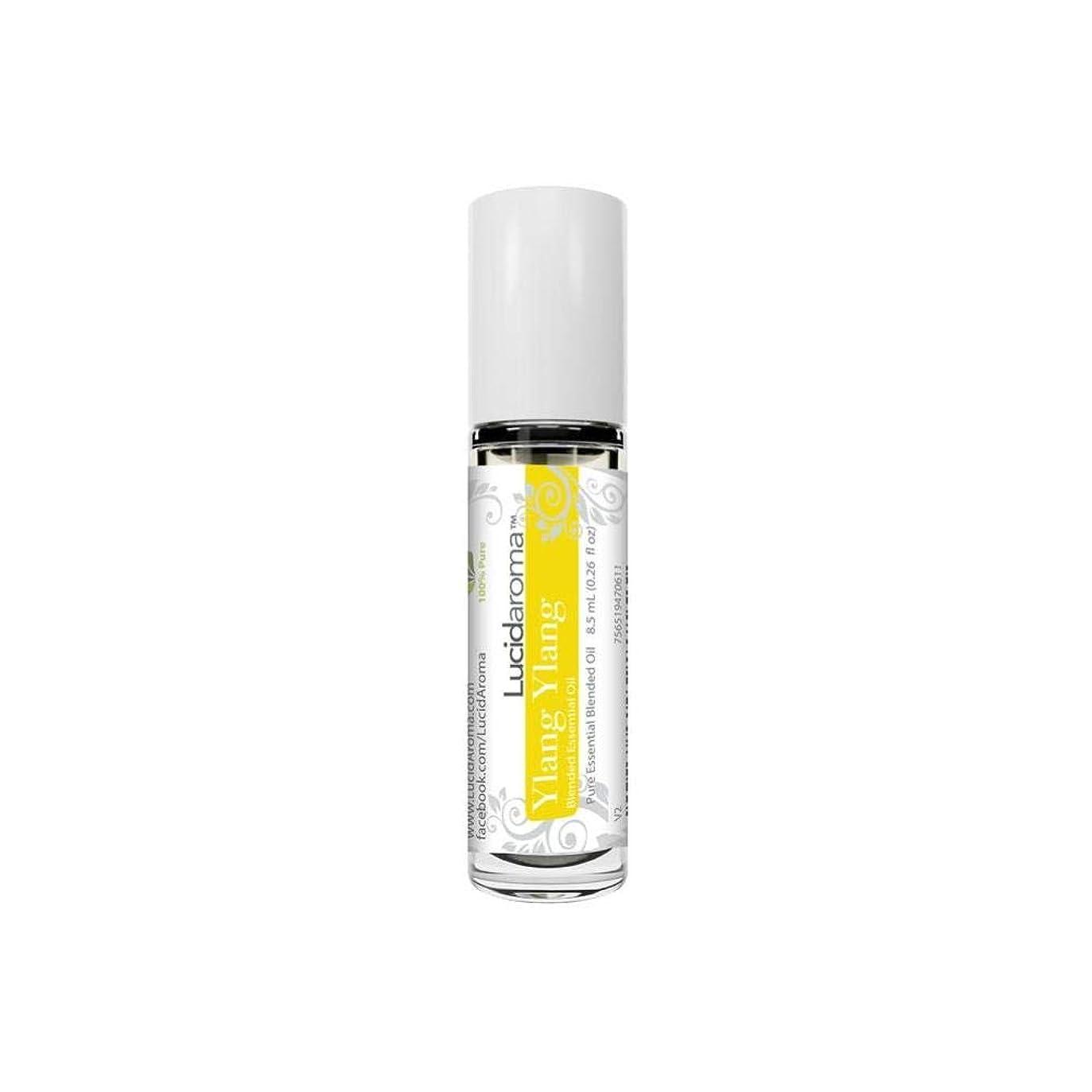 胸認証報酬のLucid Aroma Ylang Ylang イランイラン ロールオン アロマオイル 8.5mL (塗るアロマ) 100%天然 携帯便利 ラックス アメリカ製