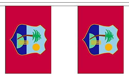 GIZZY® West-Indië 3m bunting 10 vlaggen