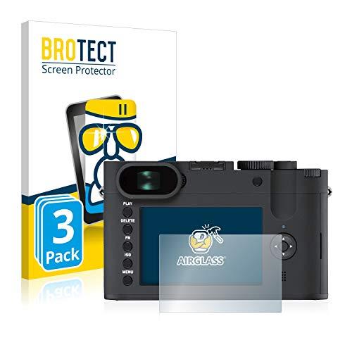 BROTECT Panzerglas Schutzfolie kompatibel mit Leica Q-P (3 Stück) - AirGlass, extrem Kratzfest, Anti-Fingerprint, Ultra-transparent