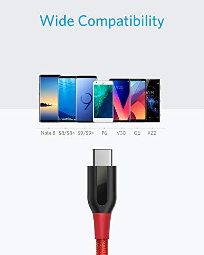 Anker USB C Kabel [2-Pack] Powerline+ 1.8m, für Galaxy S10 S9 S8+ S8, MacBook Sony XZ LG V20 G5 G6, HTC 10, Xiaomi 5 und mehr(Rot)