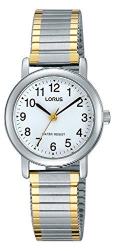Lorus Klassik Damen-Uhr mit Palladiumauflage und Metallband RRS79VX9