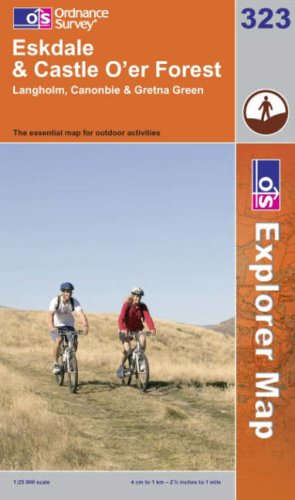 OS Explorer map 323 : Eskdale and Castle O'er Forest