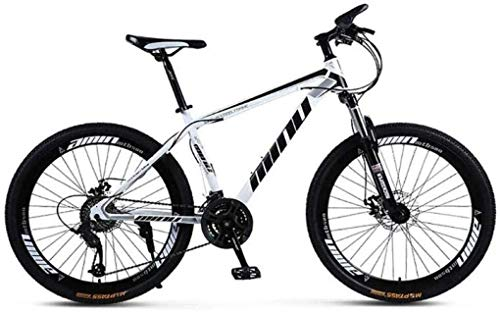 Wyyggnb Mountain Bike, Folding Bike Unisex Mountain Bike High-Carbon Steel Frame MTB...
